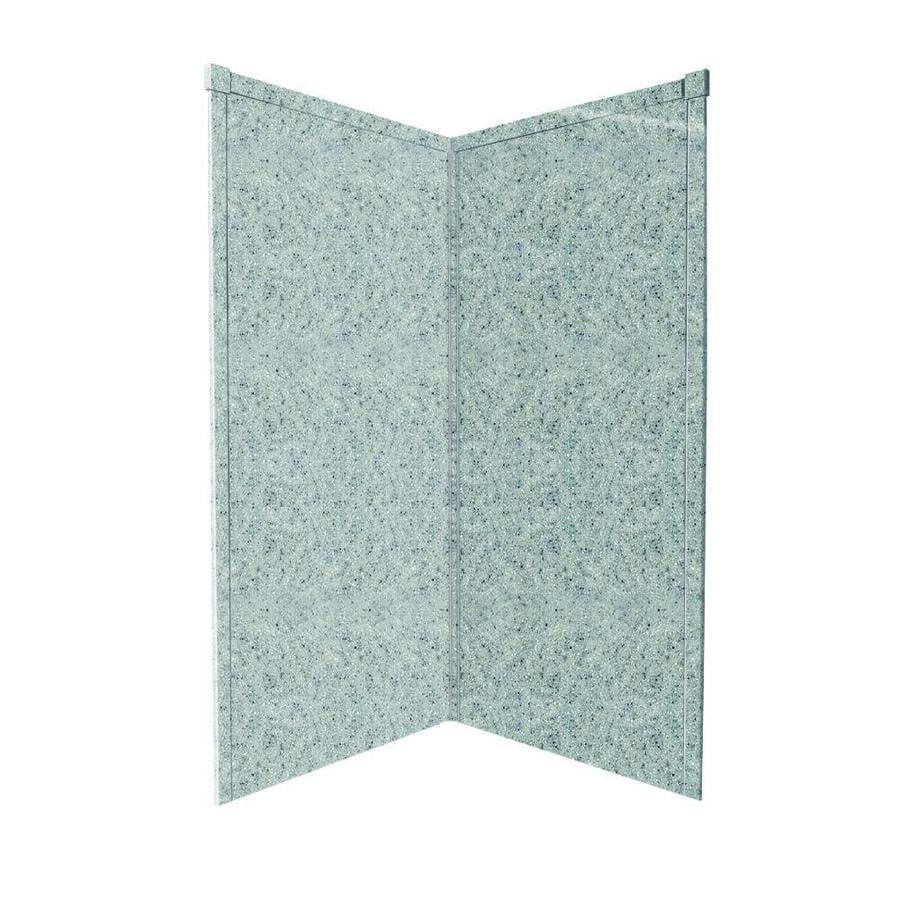Transolid Decor Matrix Dusk/Stone Shower Wall Surround Corner Wall Panel (Common: 38-in x 38-in; Actual: 96-in x 38-in x 38-in)
