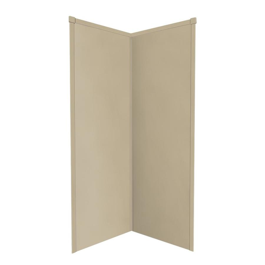 Transolid Decor Matrix Sand Shower Wall Surround Corner Wall Panel (Common: 38-in x 38-in; Actual: 96-in x 38-in x 38-in)