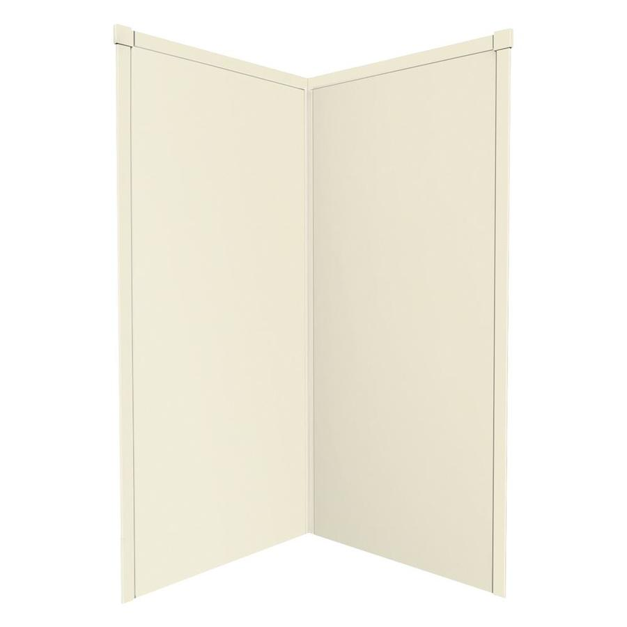 Transolid Decor Biscuit/Buff Shower Wall Surround Corner Wall Panel (Common: 42-in x 42-in; Actual: 72-in x 42-in x 42-in)