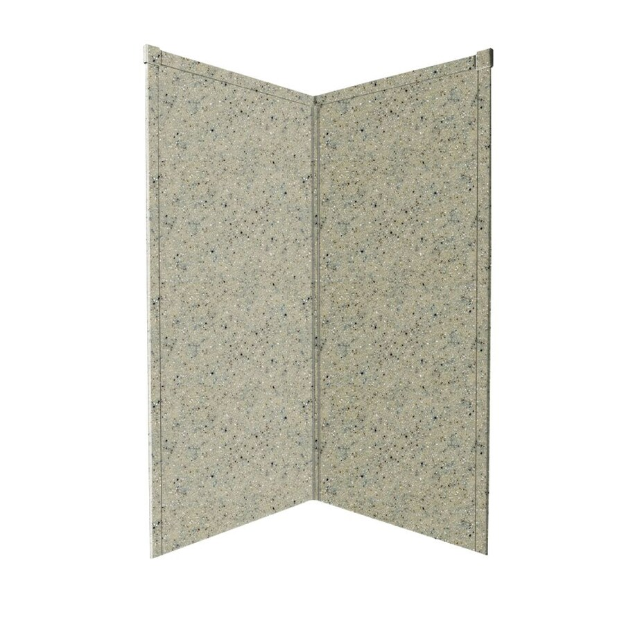 Transolid Decor Matrix Sand Shower Wall Surround Corner Wall Panel (Common: 42-in x 42-in; Actual: 72-in x 42-in x 42-in)