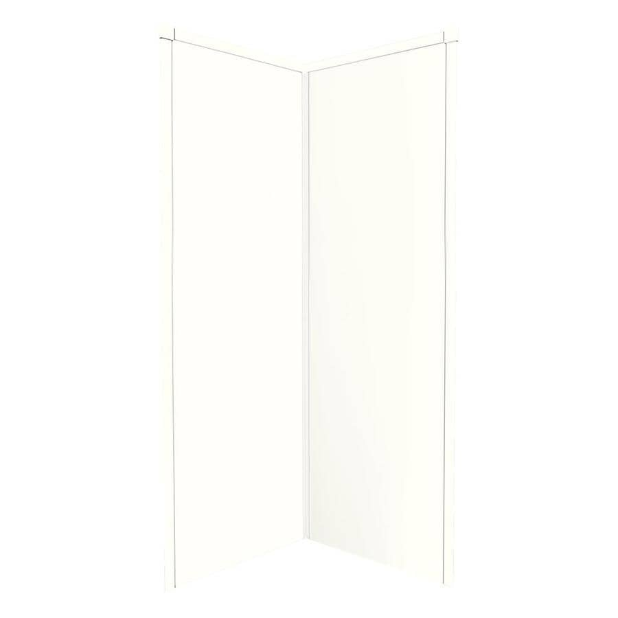 Transolid Decor White/Snow Shower Wall Surround Corner Wall Panel (Common: 42-in x 42-in; Actual: 96-in x 42-in x 42-in)