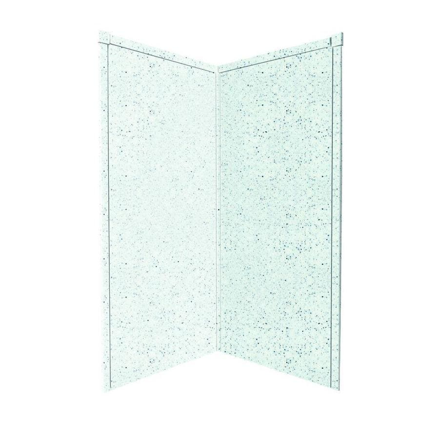 Transolid Decor Matrix White/Speckled White Shower Wall Surround Corner Wall Panel (Common: 42-in x 42-in; Actual: 96-in x 42-in x 42-in)