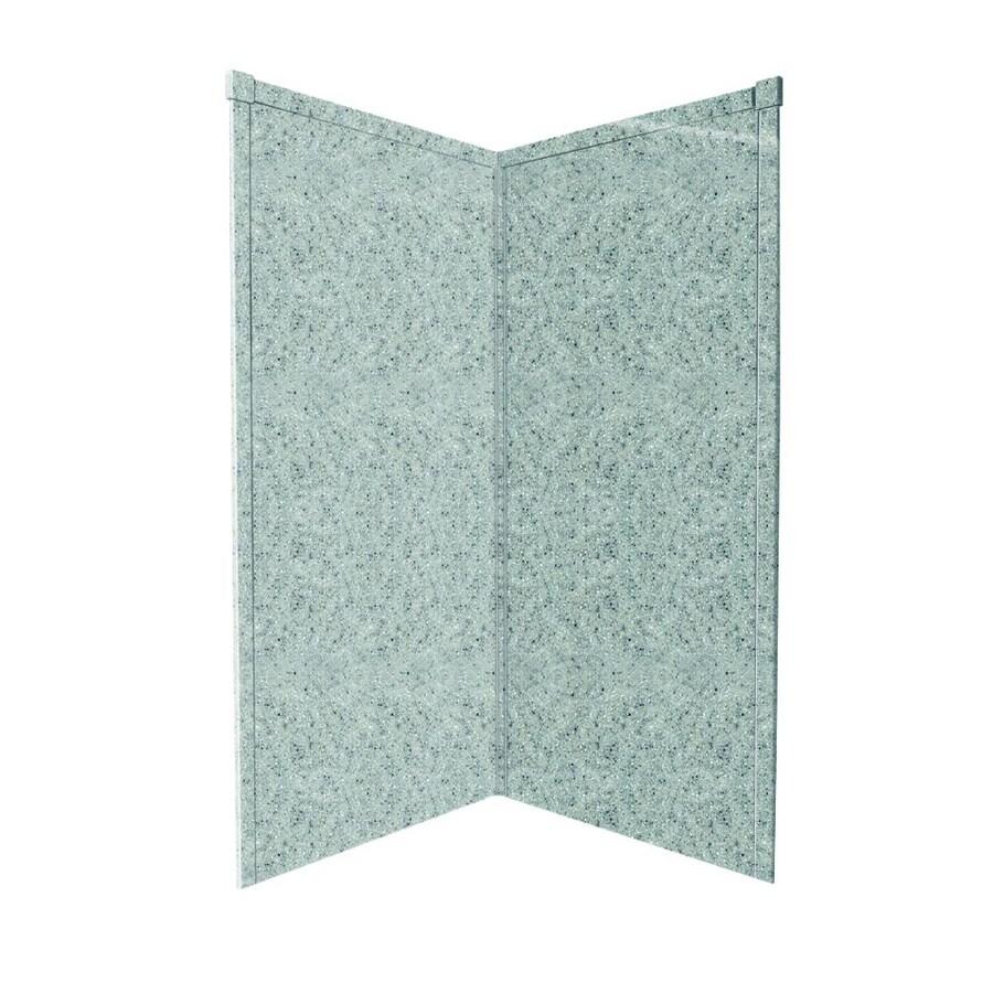Transolid Decor Matrix Dusk/Stone Shower Wall Surround Corner Wall Panel (Common: 42-in x 42-in; Actual: 96-in x 42-in x 42-in)