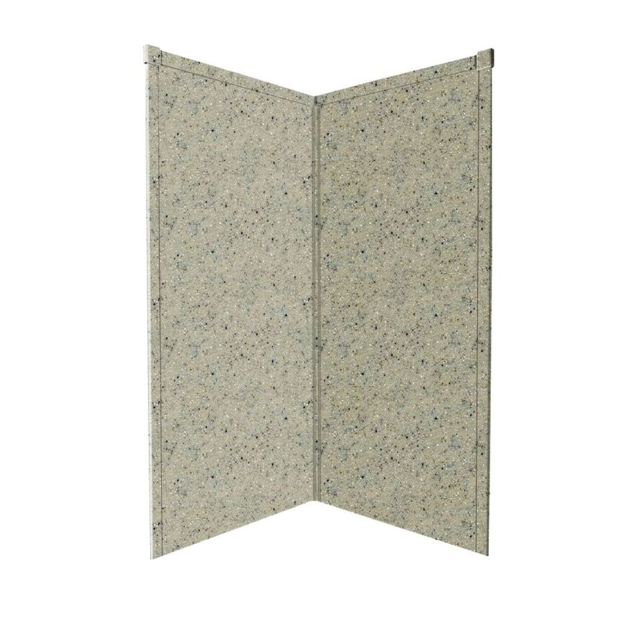 Transolid Decor Matrix Sand Shower Wall Surround Corner Wall Panel (Common: 42-in x 42-in; Actual: 96-in x 42-in x 42-in)