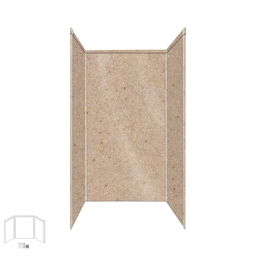 Transolid Decor Sand Castle Shower Wall Surround Side and Back Panels (Common: 32-in x 32-in; Actual: 72-in x 32-in x 32-in)