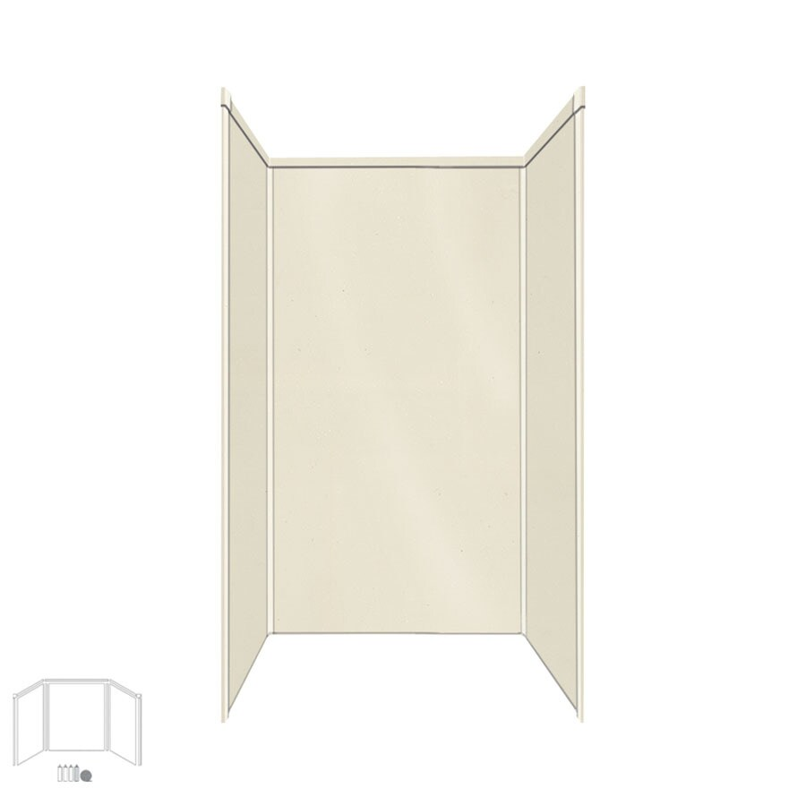 Transolid Decor Biscuit/Buff Shower Wall Surround Side and Back Panels (Common: 32-in x 32-in; Actual: 72-in x 32-in x 32-in)