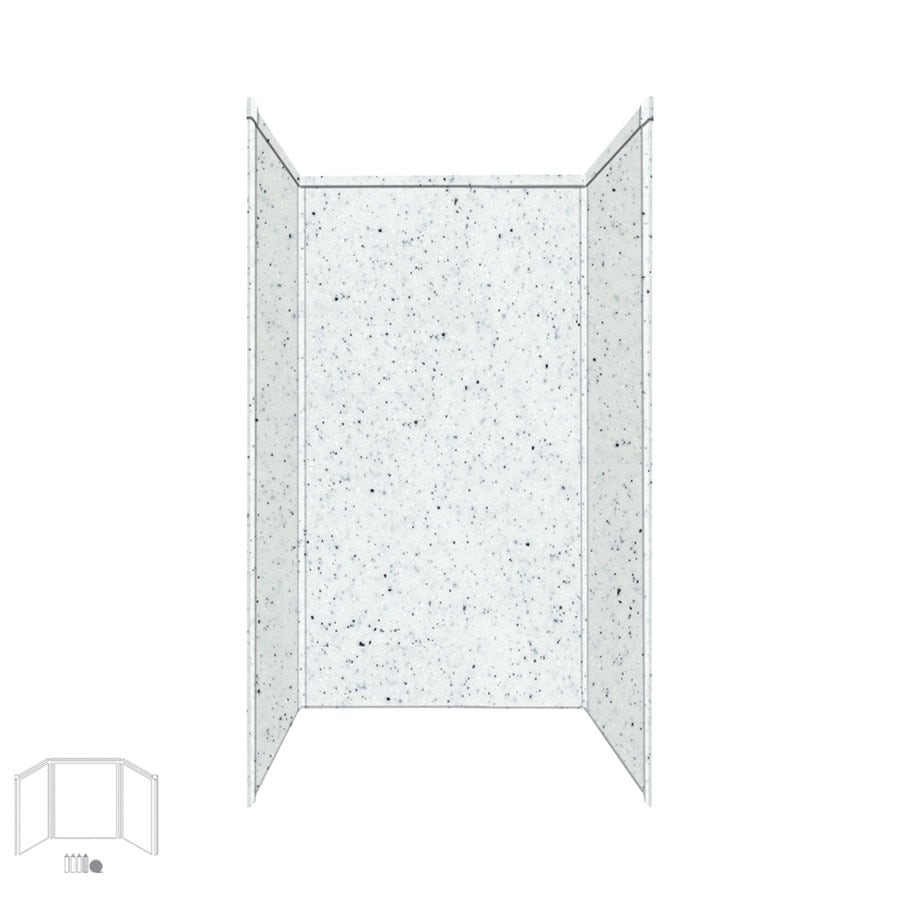 Transolid Decor Matrix White/Speckled White Shower Wall Surround Side and Back Panels (Common: 32-in x 32-in; Actual: 72-in x 32-in x 32-in)
