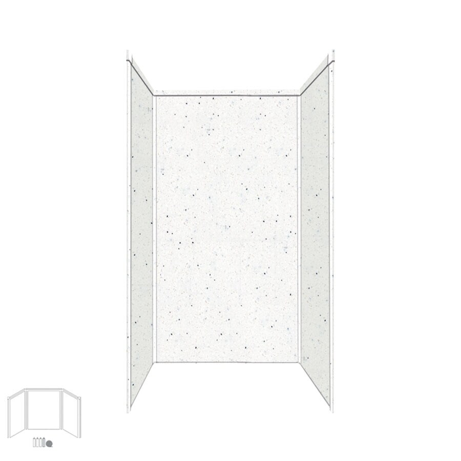 Transolid Decor Matrix Summit Shower Wall Surround Corner Wall Kit (Common: 32-in x 32-in; Actual: 72-in x 32-in x 32-in)