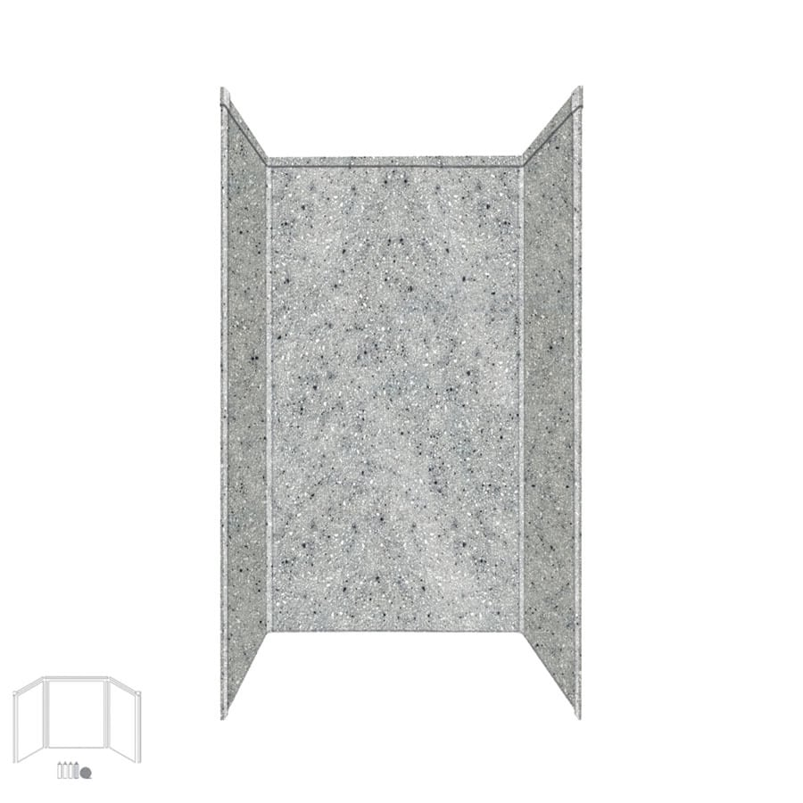 Transolid Decor Matrix Dusk/Stone Shower Wall Surround Side and Back Panels (Common: 32-in x 32-in; Actual: 72-in x 32-in x 32-in)