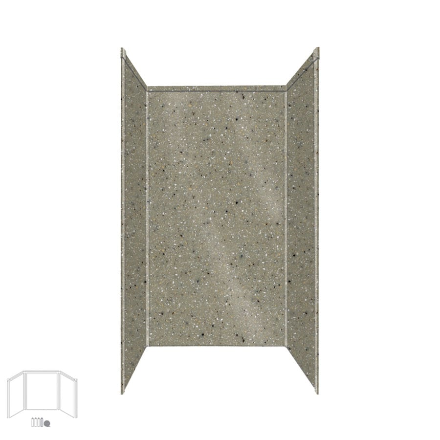 Transolid Decor Peppered Sage Shower Wall Surround Side and Back Panels (Common: 32-in x 32-in; Actual: 96-in x 32-in x 32-in)
