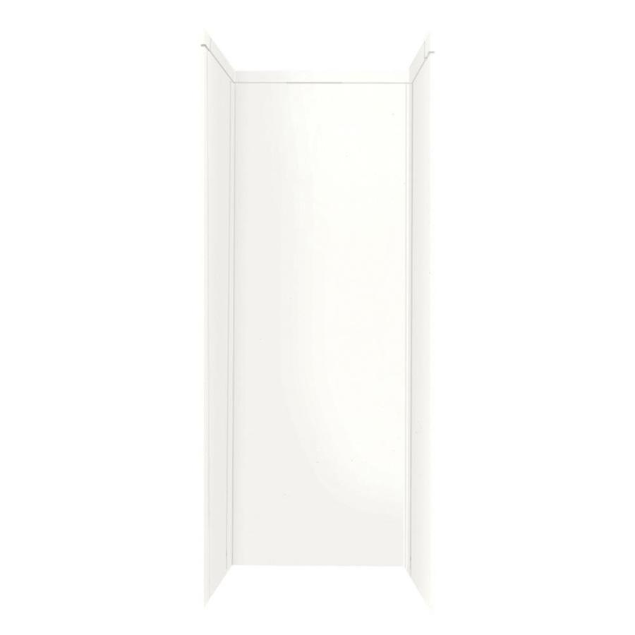 Shop Transolid Decor White Shower Wall Surround Corner Wall Kit Common 32 I