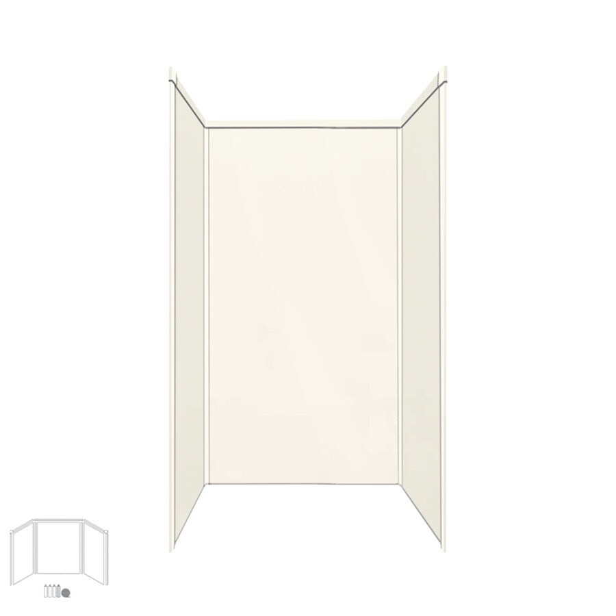 Transolid Decor Cameo/Cream Shower Wall Surround Side and Back Panels (Common: 32-in x 32-in; Actual: 96-in x 32-in x 32-in)