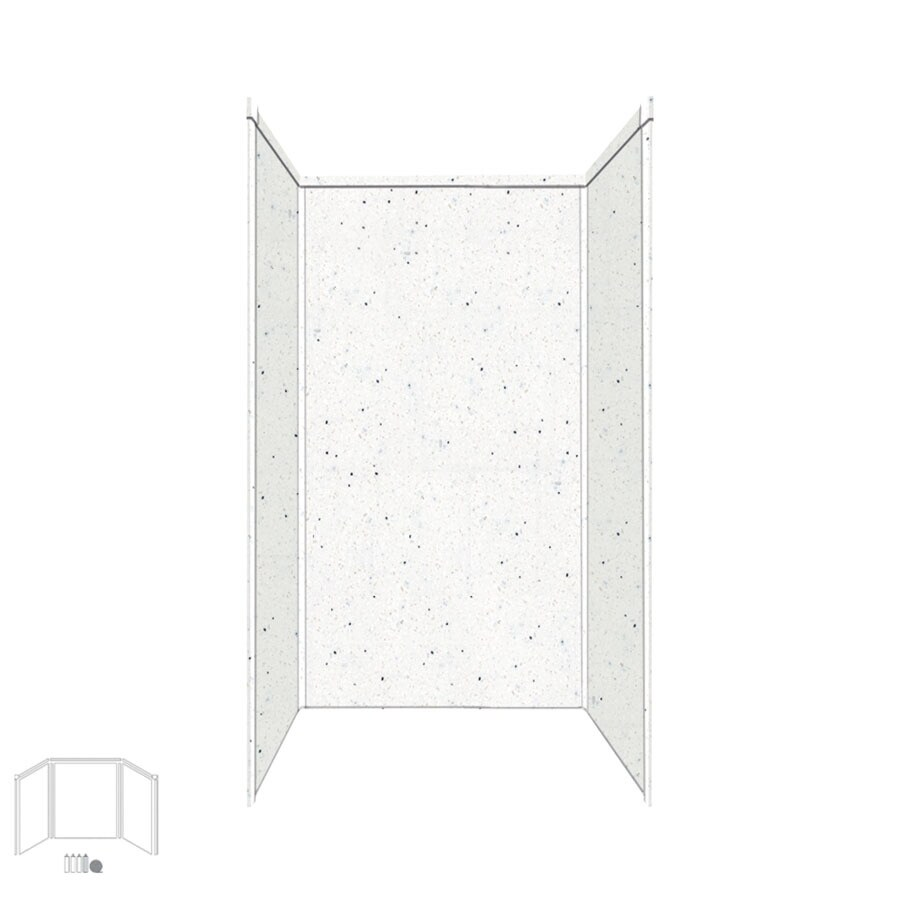 Transolid Decor Matrix Summit/Alabaster Shower Wall Surround Side and Back Panels (Common: 32-in x 32-in; Actual: 96-in x 32-in x 32-in)