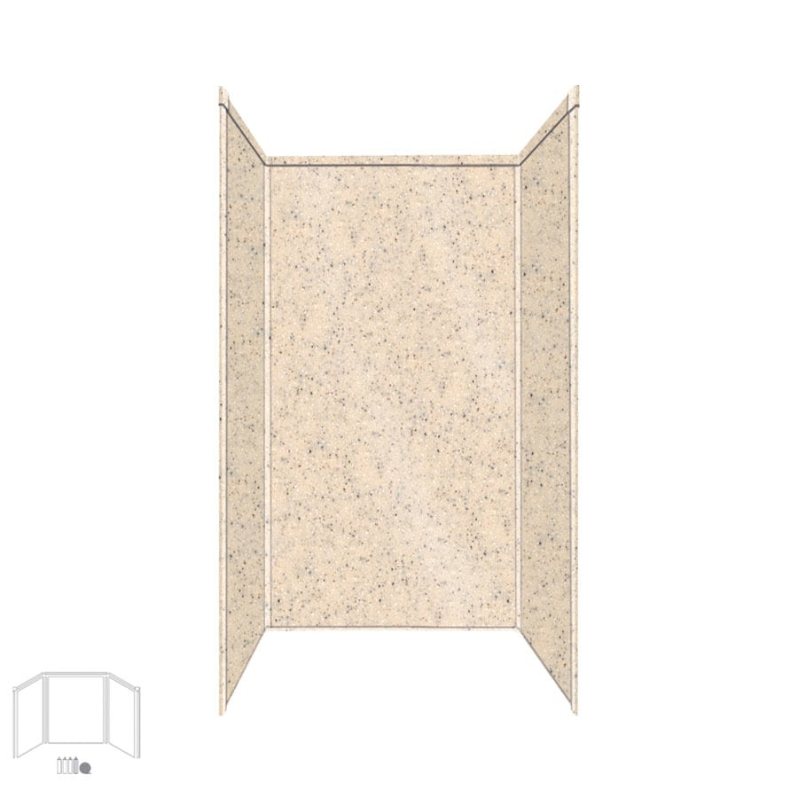 Transolid Decor Matrix Khaki/Sunset Sand Shower Wall Surround Side and Back Panels (Common: 32-in x 32-in; Actual: 96-in x 32-in x 32-in)