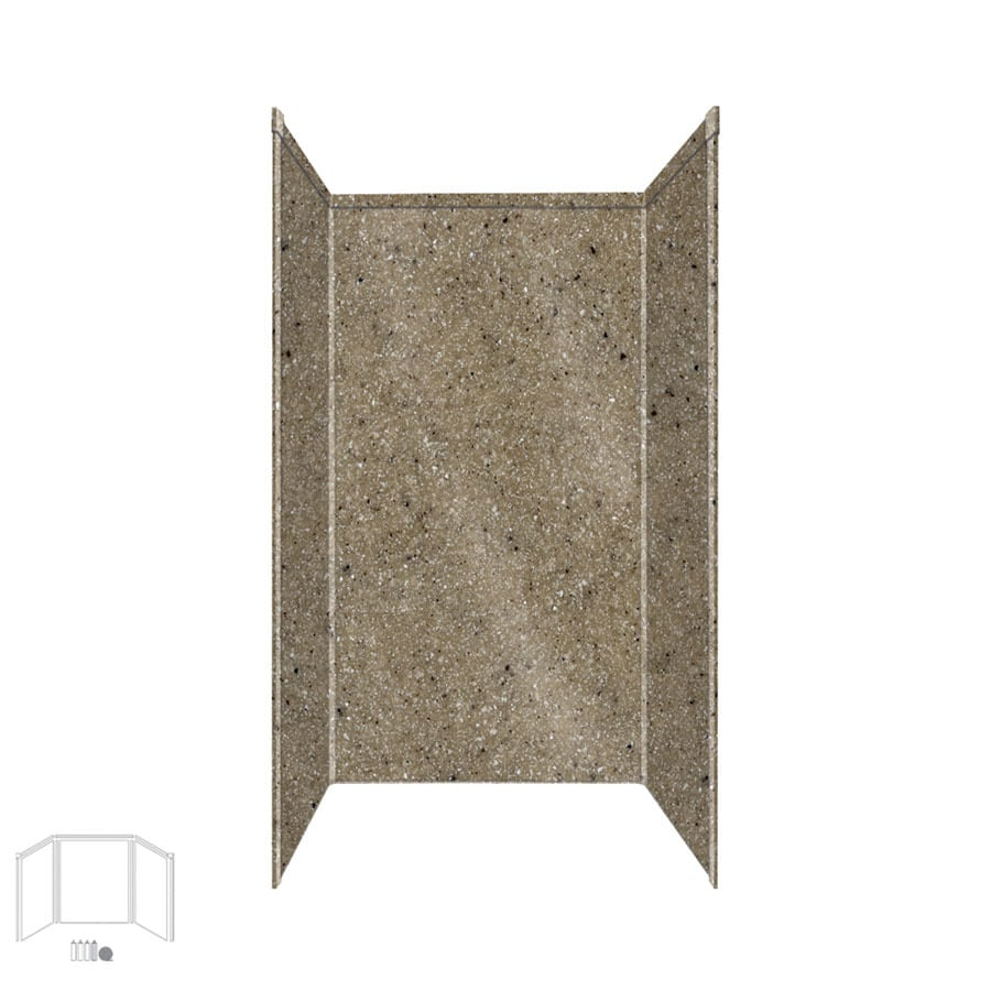 Transolid Decor Matrix Sand Shower Wall Surround Corner Wall Kit (Common: 32-in x 32-in; Actual: 96-in x 32-in x 32-in)