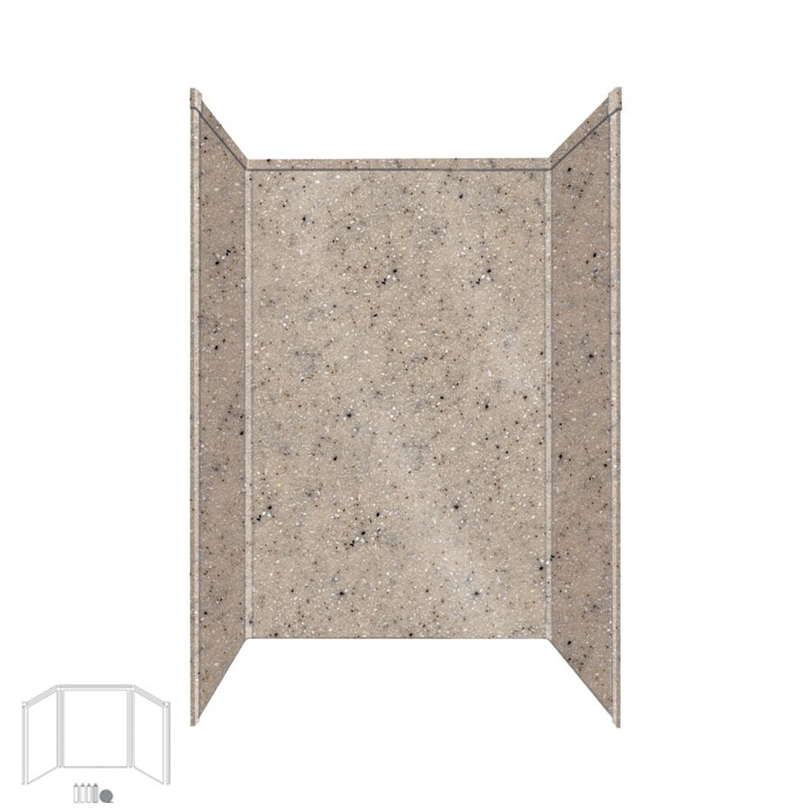 Transolid Decor Desert Earth Shower Wall Surround Side and Back Panels (Common: 32-in x 48-in; Actual: 72-in x 32-in x 48-in)