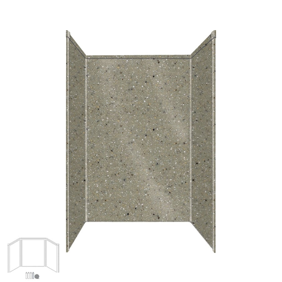 Transolid Decor Peppered Sage Shower Wall Surround Side and Back Panels (Common: 32-in x 48-in; Actual: 72-in x 32-in x 48-in)