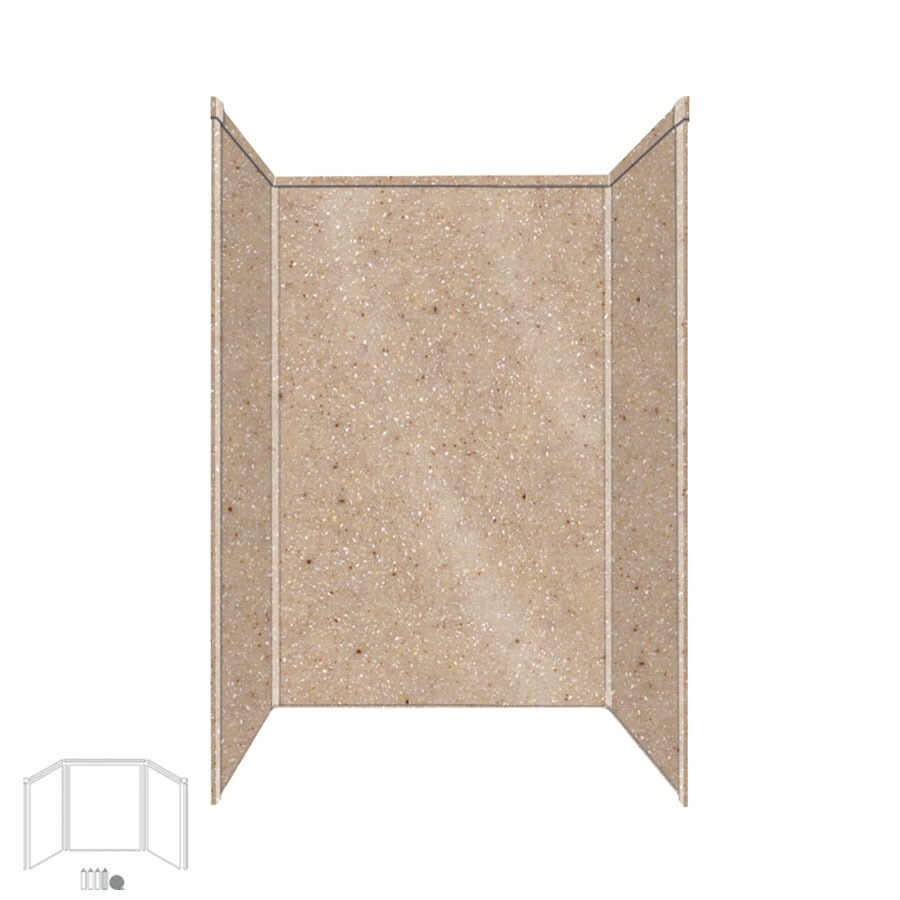 Transolid Decor Sand Castle Shower Wall Surround Side and Back Panels (Common: 32-in x 48-in; Actual: 72-in x 32-in x 48-in)