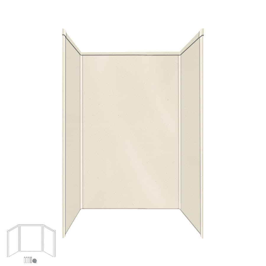 Transolid Decor Biscuit/Buff Shower Wall Surround Side and Back Panels (Common: 32-in x 48-in; Actual: 72-in x 32-in x 48-in)