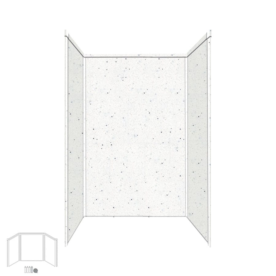 Transolid Decor Matrix Summit/Alabaster Shower Wall Surround Side and Back Panels (Common: 32-in x 48-in; Actual: 72-in x 32-in x 48-in)