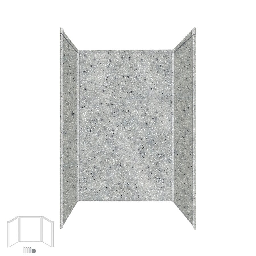 Transolid Decor Matrix Dusk Shower Wall Surround Side And Back Wall Kit (Common: 32-in x 48-in; Actual: 72-in x 32-in x 48-in)