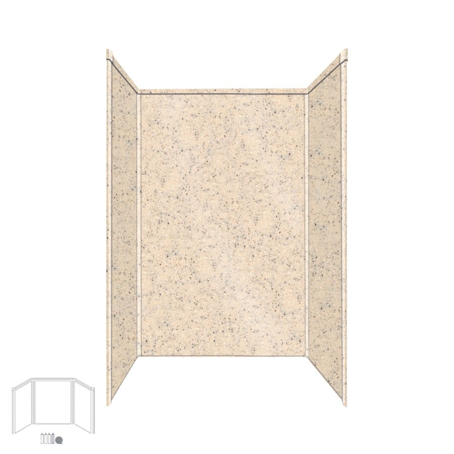 Shop transolid decor matrix khaki shower wall surround Decoration kaki