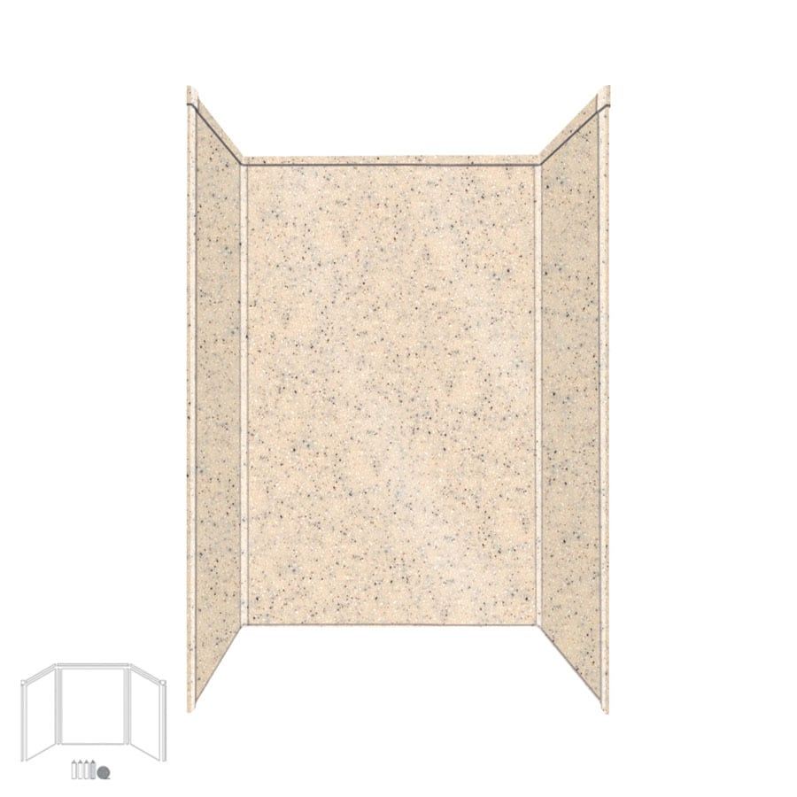 Transolid Decor Matrix Khaki Shower Wall Surround Side and Back Wall Kit (Common: 32-in x 48-in; Actual: 72-in x 32-in x 48-in)