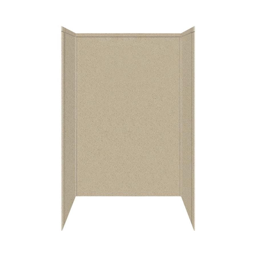 Transolid Decor Matrix Sand Shower Wall Surround Side and Back Panels (Common: 32-in x 48-in; Actual: 72-in x 32-in x 48-in)