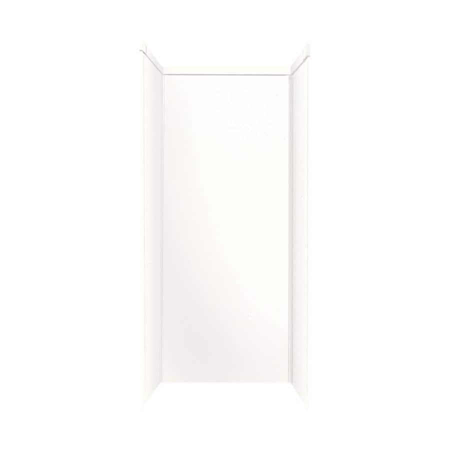 Transolid Decor White Shower Wall Surround Side And Back Wall Kit (Common: 32-in x 48-in; Actual: 96-in x 32-in x 48-in)