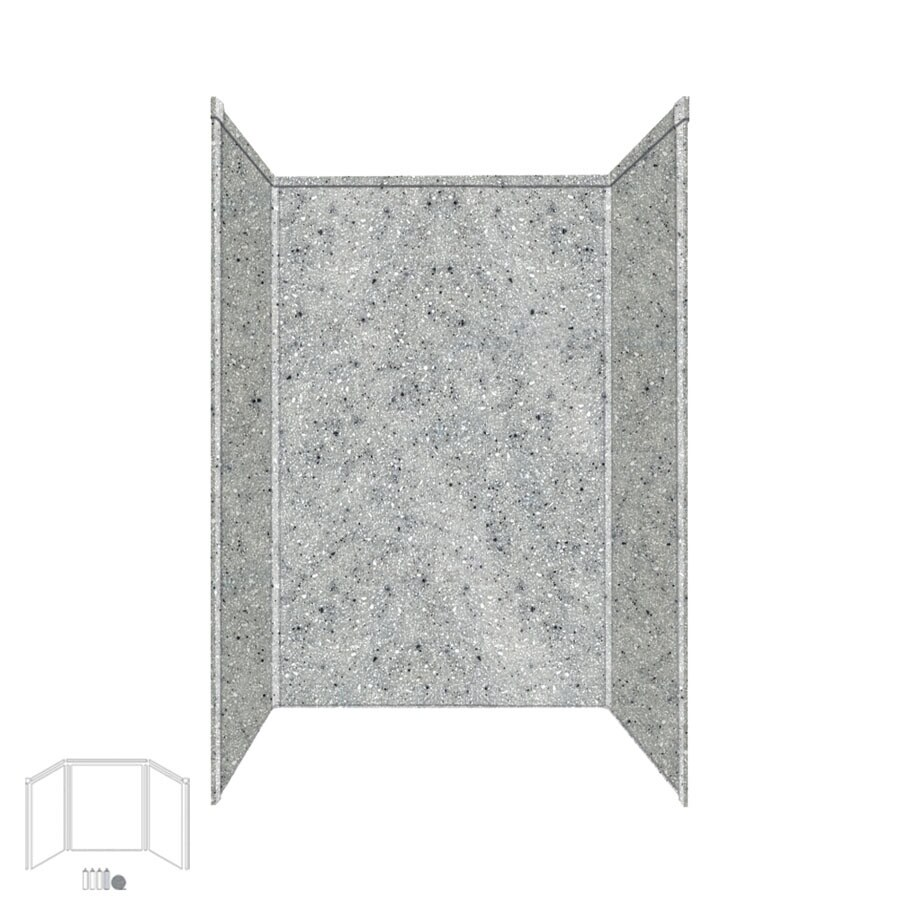 Transolid Decor Matrix Dusk/Stone Shower Wall Surround Side and Back Panels (Common: 32-in x 48-in; Actual: 96-in x 32-in x 48-in)