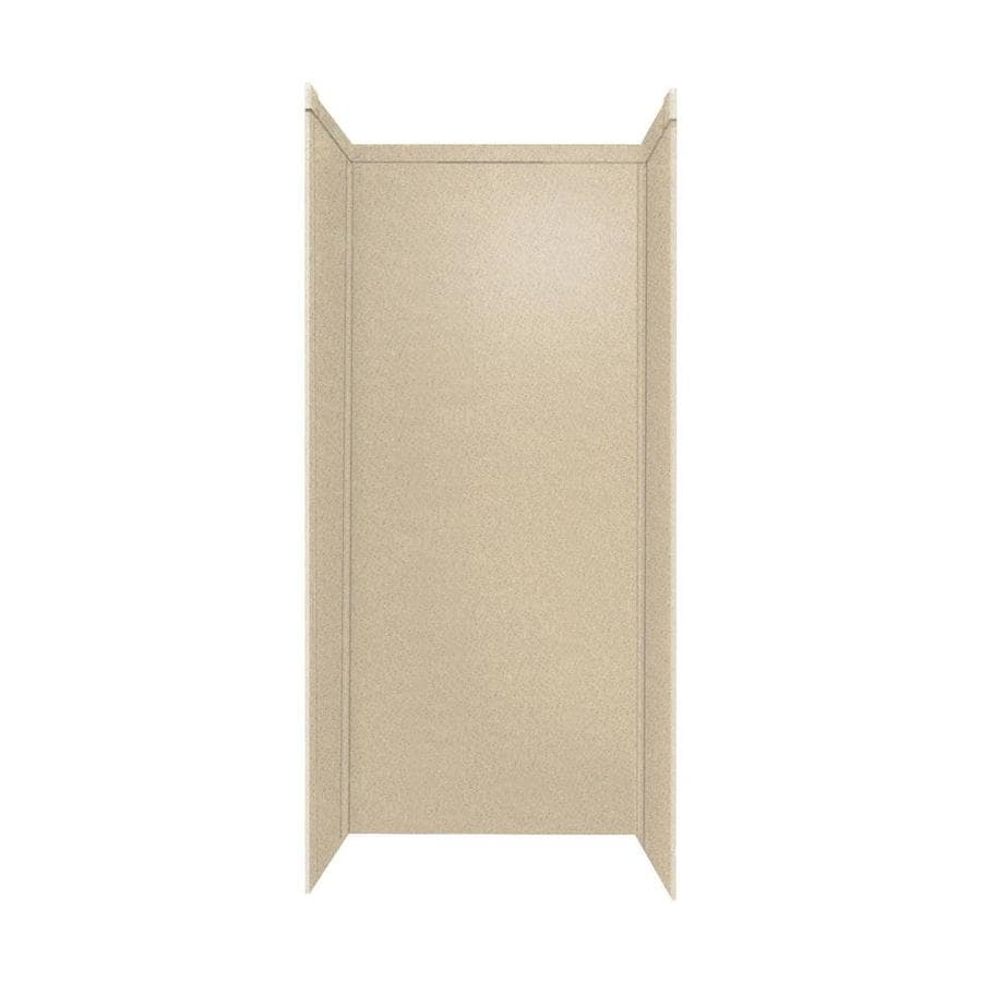 Transolid Decor Matrix Khaki/Sunset Sand Shower Wall Surround Side and Back Panels (Common: 32-in x 48-in; Actual: 96-in x 32-in x 48-in)