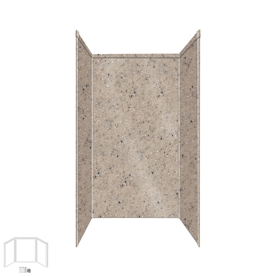 Transolid Decor Desert Earth Shower Wall Surround Side and Back Panels (Common: 34-in x 42-in; Actual: 72-in x 34-in x 42-in)