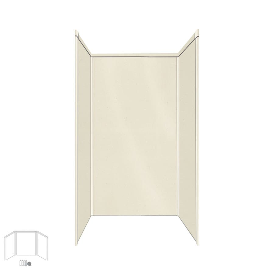 Transolid Decor Biscuit/Buff Shower Wall Surround Side and Back Panels (Common: 34-in x 42-in; Actual: 72-in x 34-in x 42-in)