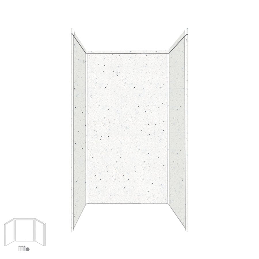 Transolid Decor Matrix Summit/Alabaster Shower Wall Surround Side and Back Panels (Common: 34-in x 42-in; Actual: 72-in x 34-in x 42-in)