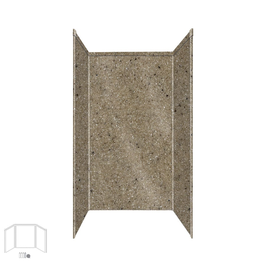 Transolid Decor Matrix Sand Shower Wall Surround Side and Back Panels (Common: 34-in x 42-in; Actual: 72-in x 34-in x 42-in)