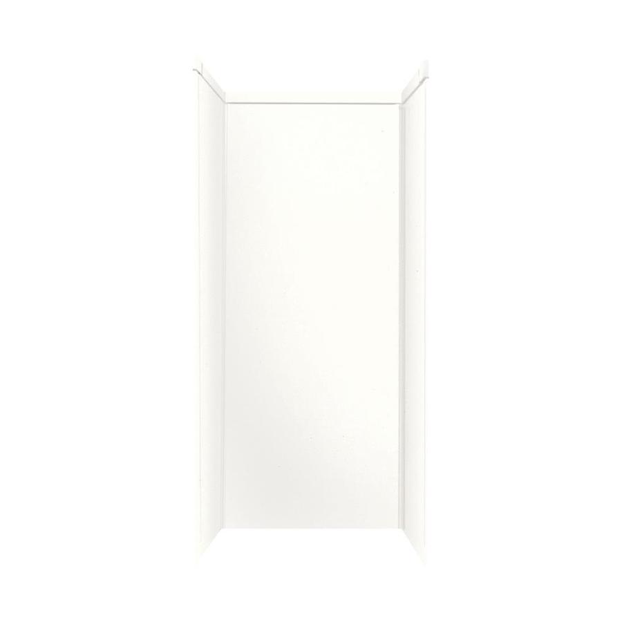 Transolid Decor White/Snow Shower Wall Surround Side and Back Panels (Common: 34-in x 42-in; Actual: 96-in x 34-in x 42-in)
