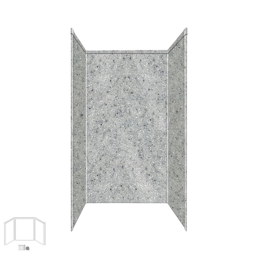 Transolid Decor Matrix Dusk Shower Wall Surround Corner Wall Kit (Common: 34-in x 42-in; Actual: 96-in x 34-in x 42-in)