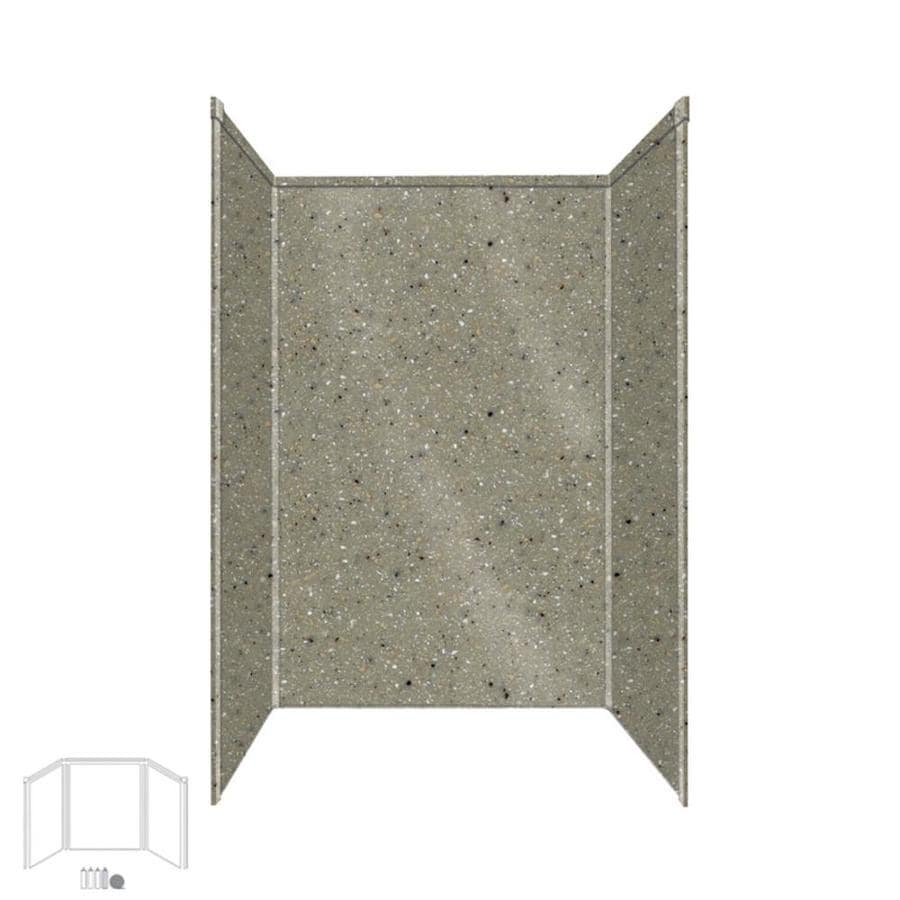 Transolid Decor Peppered Sage Shower Wall Surround Side and Back Panels (Common: 34-in x 48-in; Actual: 72-in x 34-in x 48-in)