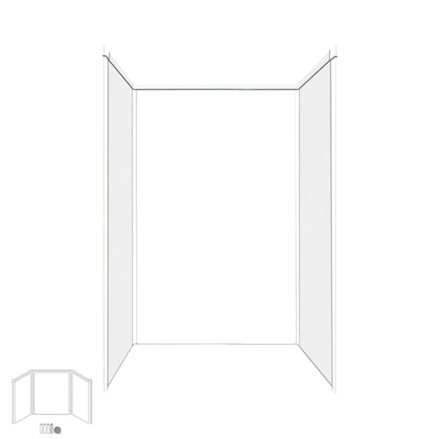 Transolid Decor White/Snow Shower Wall Surround Side and Back Panels (Common: 34-in x 48-in; Actual: 72-in x 34-in x 48-in)
