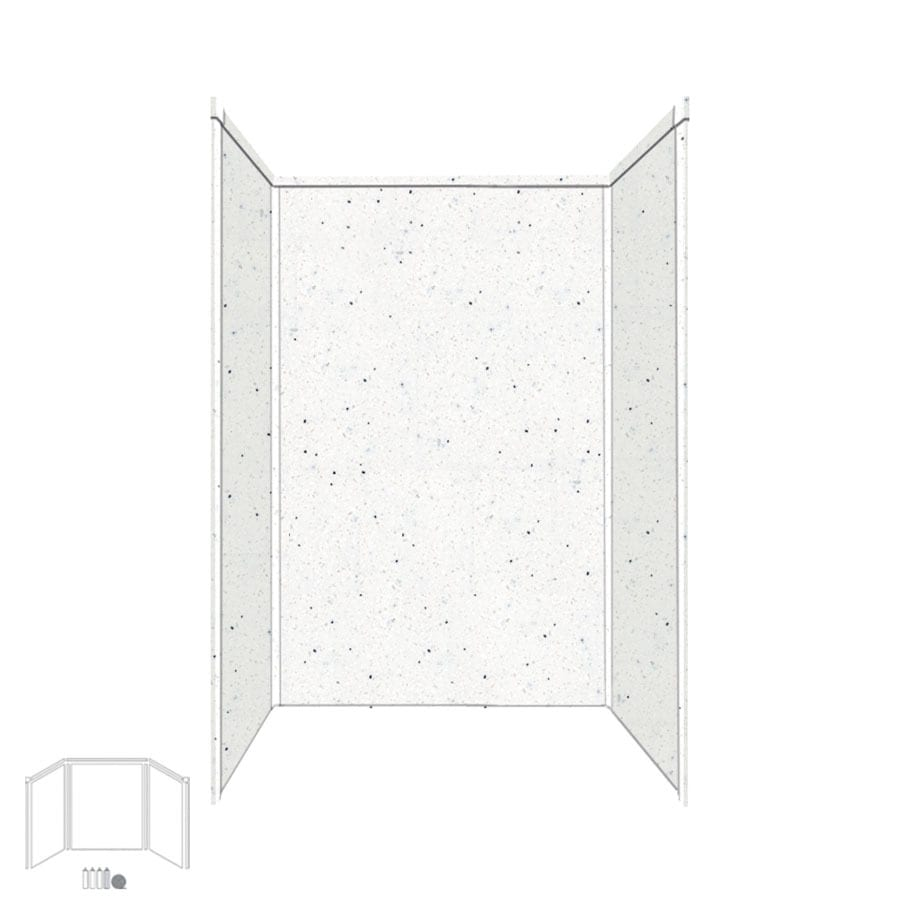 Transolid Decor Matrix Summit/Alabaster Shower Wall Surround Side and Back Panels (Common: 34-in x 48-in; Actual: 72-in x 34-in x 48-in)