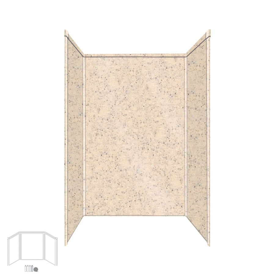Transolid Decor Matrix Khaki/Sunset Sand Shower Wall Surround Side and Back Panels (Common: 34-in x 48-in; Actual: 72-in x 34-in x 48-in)