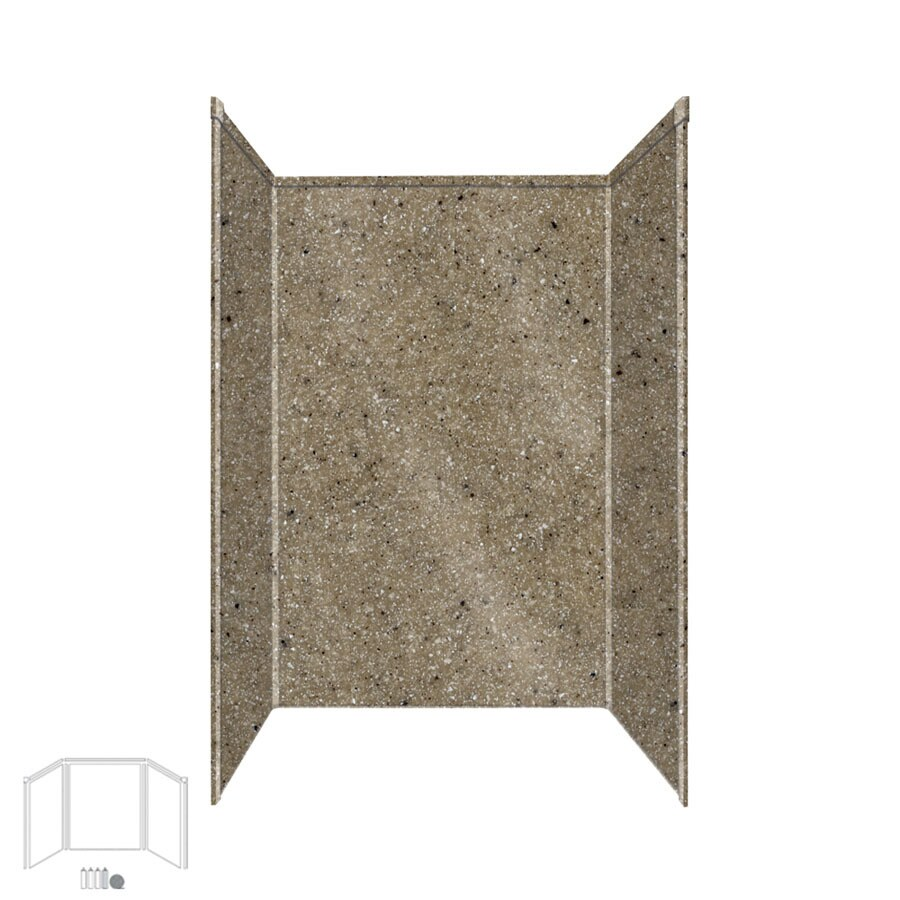 Transolid Decor Matrix Sand Shower Wall Surround Side and Back Panels (Common: 34-in x 48-in; Actual: 72-in x 34-in x 48-in)