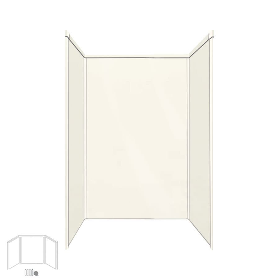 Transolid Decor Cameo/Cream Shower Wall Surround Side and Back Panels (Common: 34-in x 48-in; Actual: 96-in x 34-in x 48-in)