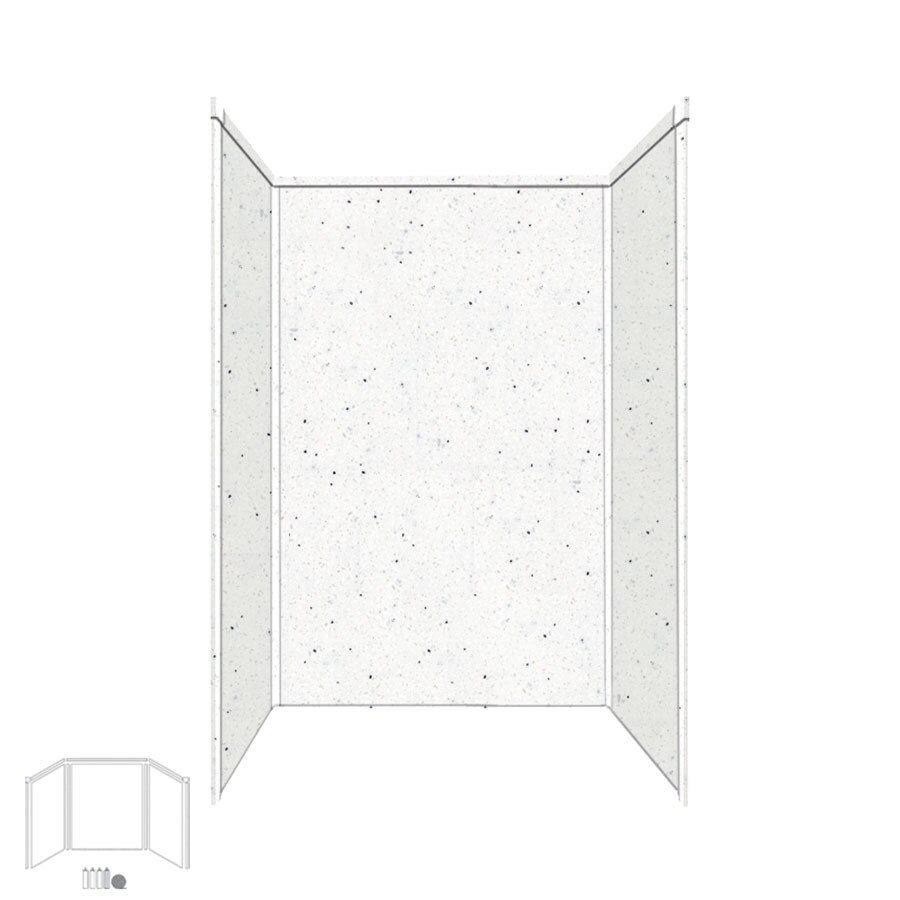 Transolid Decor Matrix Summit/Alabaster Shower Wall Surround Side and Back Panels (Common: 34-in x 48-in; Actual: 96-in x 34-in x 48-in)