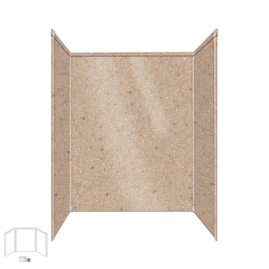 Transolid Decor Sand Castle Shower Wall Surround Side and Back Panels (Common: 34-in x 60-in; Actual: 72-in x 34-in x 60-in)