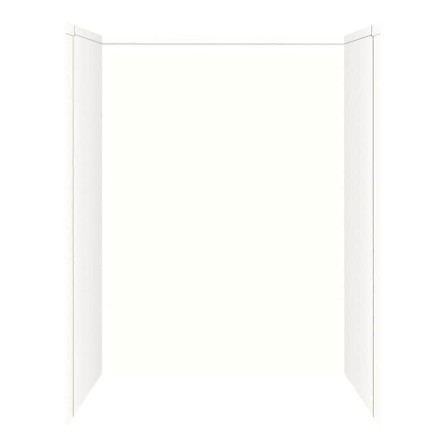 Transolid Decor White Snow Shower Wall Surround Side And