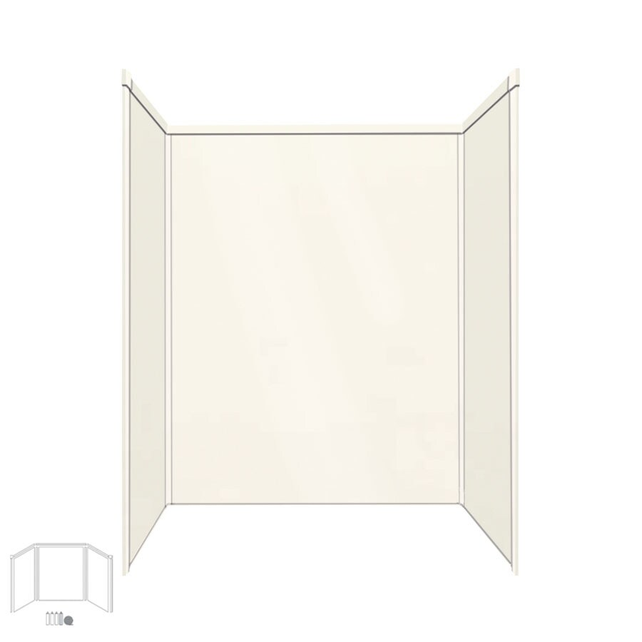 Transolid Decor Cameo/Cream Shower Wall Surround Side and Back Panels (Common: 34-in x 60-in; Actual: 72-in x 34-in x 60-in)