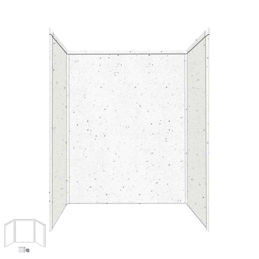 Shop Transolid Decor Matrix Summit Shower Wall Surround Corner Wall Kit Comm
