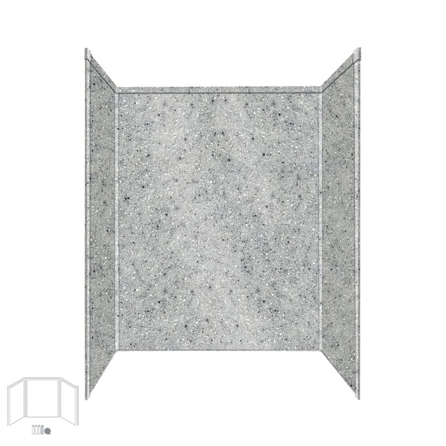 Transolid Decor Matrix Dusk/Stone Shower Wall Surround Side and Back Panels (Common: 34-in x 60-in; Actual: 72-in x 34-in x 60-in)