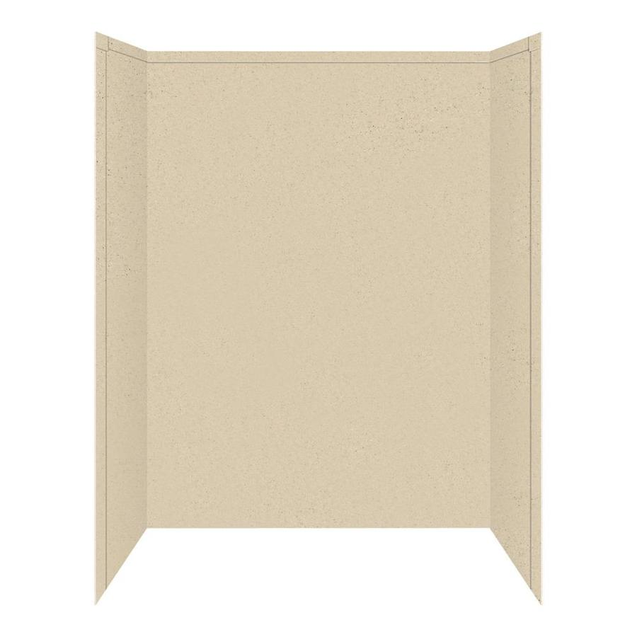 Transolid Decor Matrix Khaki/Sunset Sand Shower Wall Surround Side and Back Panels (Common: 34-in x 60-in; Actual: 72-in x 34-in x 60-in)